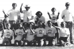 Junior year Powder Puff football team. Cindy Frost's dad was the head coach. The jr. coaches probably had more fun