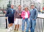 Team Captain Don Barker roaming the streets of London with his family in 2006