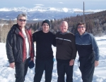 1978 Grads and Buds: Jim Robins, Drew Jones, Rick Harlow, and Kit Gobel on a Colorado ski trip in January of this year.
