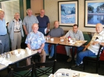 These old-timers are all NHHS alumni who meet at Denny's restaurant every Thursday for breakfast.  Front and center is