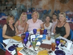 Girls doing Brunch - left to right  Karen Lindhoff, Jeannine Mansur, Karen Nielson, Brenda Smith w/daughter and Robin De