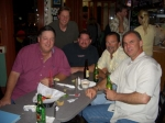 Alumni Mark Harris, Bill Beamish, Kevin Timmons, Kenny Knight, and Don Holmes got together for drinks at El Ranchito in