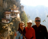 Allison Udall Thomsen and crew in Bhutan