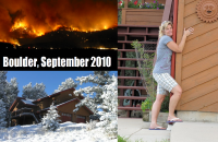 Anita hugs her home after surviving the recent Boulder, Colorado fires