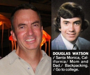 Doug at our 30-year reunion and his yearbook photo