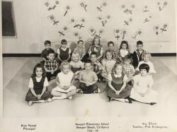 PM Kindergarten Mrs Elliot 1966